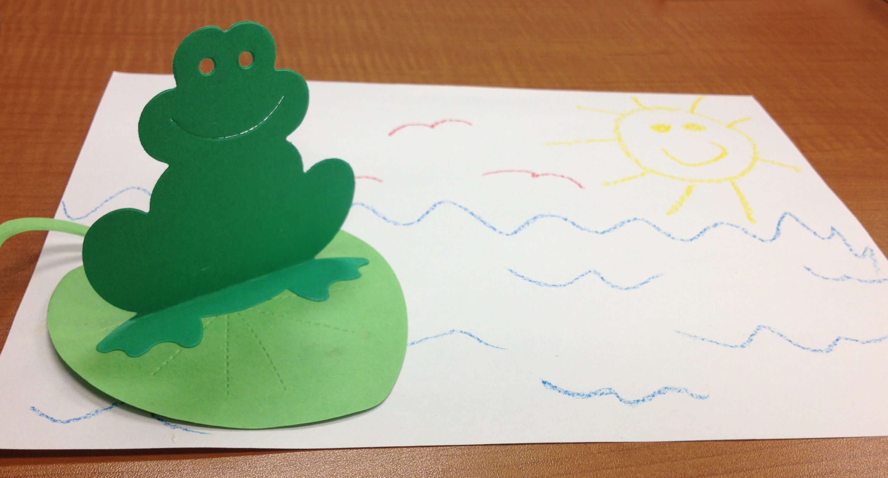 Frog Lily Pad Craft Out Frogs And Lily Pads