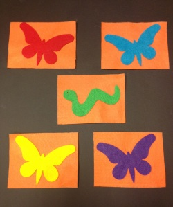 5 Little Caterpillars Flannel Board 2